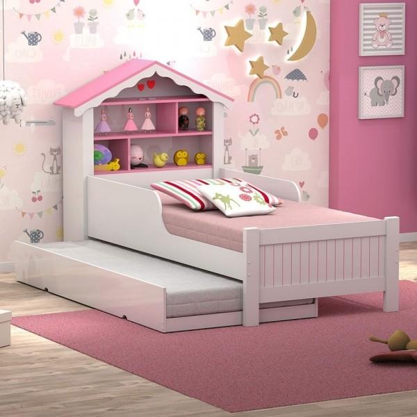 Bicama Casa Menina Rosa Solteiro