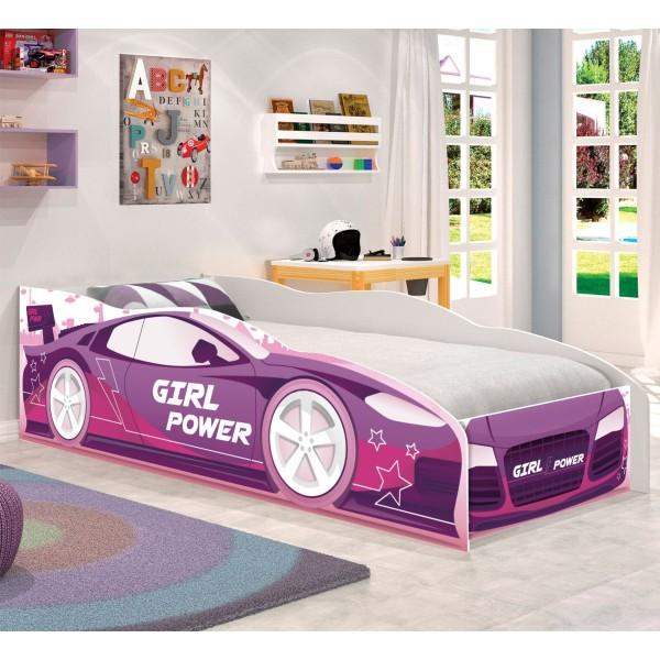 Cama Infantil Kids Speciale Carro Rosa