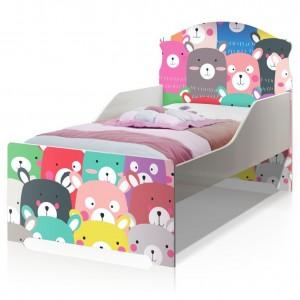 Cama Infantil Uly Ursinhos Coloridos com Colchão