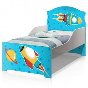Cama Infantil Uly Foguete Espacial com Colchão