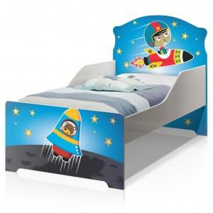 Cama Infantil Uly Astronauta e Foguete com Colchão
