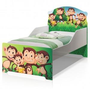Cama Infantil Uly Macacos com Colchão