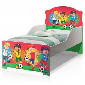 Cama Infantil Uly Futebol Meninos com Colchão