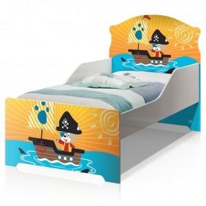 Cama Infantil Uly Pirata Do Mar com Colchão