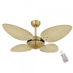 Ventilador Volare Off P Palmae Natural 127V Controle Remoto
