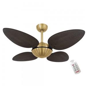 Ventilador Volare Off P Palmae Tabaco 127V e Controle Remoto