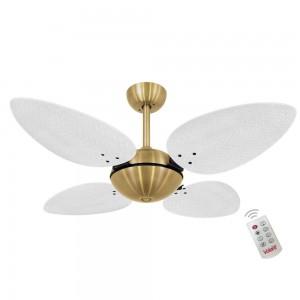 Ventilador Volare Off P Palmae Branco 220V e Controle Remoto