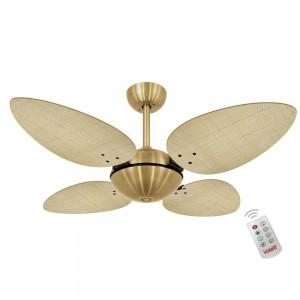 Ventilador Volare Off P Palmae Natural 220V Controle Remoto