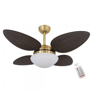 Ventilador Volare P Palmae Tabaco 220V e Controle Remoto