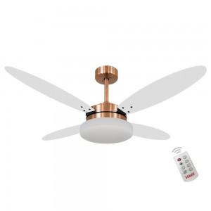 Ventilador Volare Lanai Branco e Tabaco 127V Controle Remoto