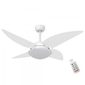 Ventilador Volare Quad Branco 127V e Controle Remoto