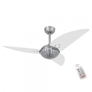 Ventilador Volare Off Class Branco 127V e Controle Remoto