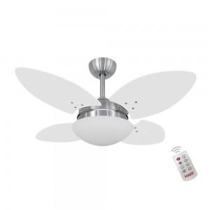 Ventilador Volare Mini Petalo Branco 127V e Controle Remoto