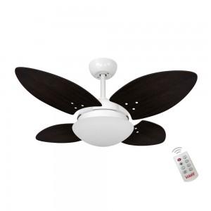 Ventilador Volare Mini Petalo Tabaco 220V e Controle Remoto