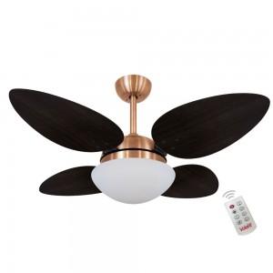 Ventilador Volare Petalo Quad Tabaco 220V e Controle Remoto