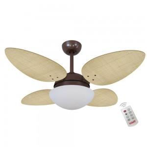 Ventilador Volare P Palmae Natural 127V e Controle Remoto
