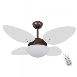 Ventilador Volare Petalo Quad Branco 127V e Controle Remoto