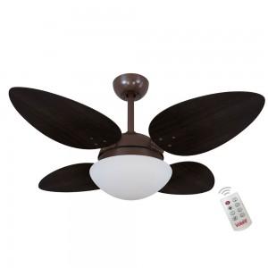 Ventilador Volare Petalo Quad Tabaco 127V e Controle Remoto