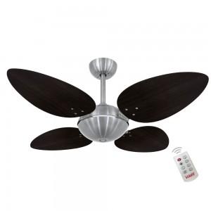 Ventilador Volare OffPetalo Quad Tabaco 220V Controle Remoto