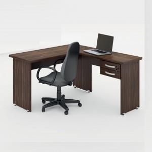 Mesa em L Escritório Alfama Marrom