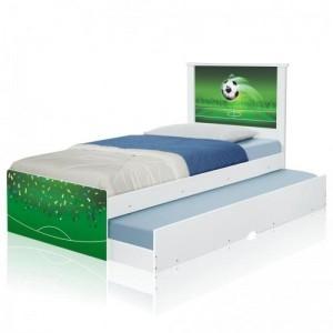 Cama Bicama Juvenil Adesivada Copa Futebol com Colchões