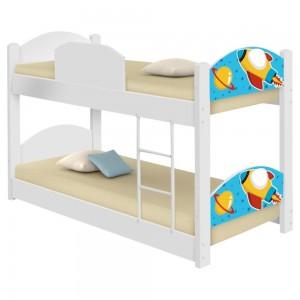 Beliche Infantil Foguete Espacial com 2 Colchões