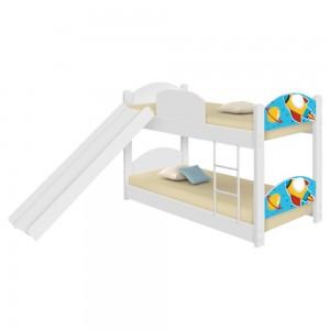 Beliche Infantil Foguete Espacial com Escorregador e Colchões