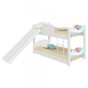 Beliche Infantil Pipas com Escorregador e Colchões