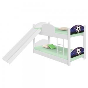 Beliche Infantil Futebol Estádio com Escorregador e Colchões
