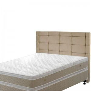 Cabeceira Casal King Mariana 190 cm Sued Bege