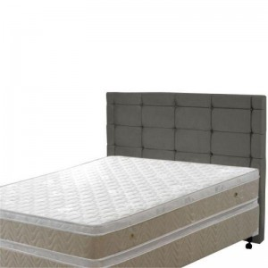 Cabeceira Casal King Mariana 190 cm Sued Cinza