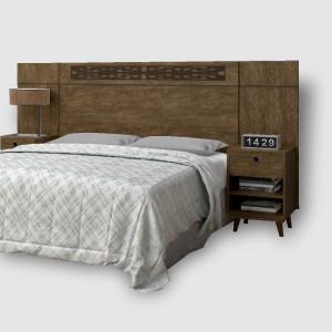Cabeceira Box Regulável Francy Castanho Wood