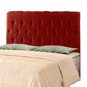 Cabeceira Rafaella Casal 140 cm Sued Vermelho