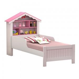 Cama Casa Menina Rosa Solteiro