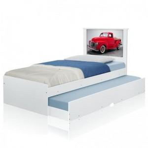 Cama Bibox Solteiro Carro Classic Red com Colchões