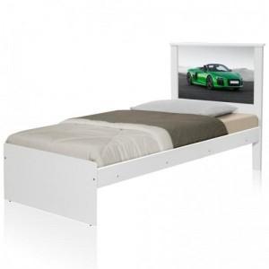 Cama Solteiro Carro Sport Verde