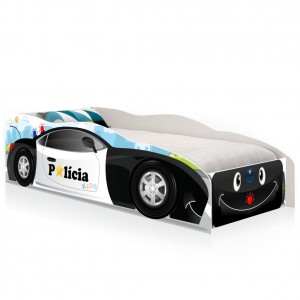 Cama Infantil Kids Speciale Carro Polícia Baby com Colchão