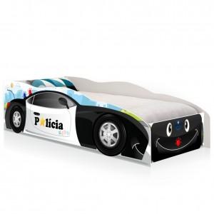 Cama Solteiro Kids Speciale Carro Polícia Baby com Colchão