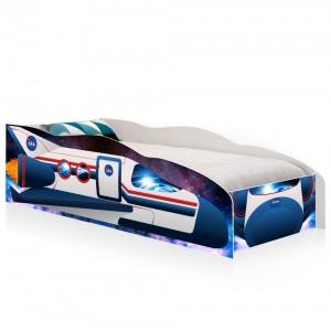 Cama Solteiro Kids Speciale Foguete Espacial Com Colchão