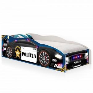 Cama Solteiro Kids Speciale Carro Polícia com Colchão