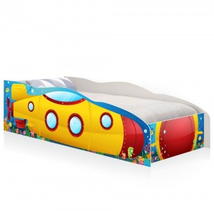 Cama Solteiro Kids Speciale Submarino Amarelo com Colchão