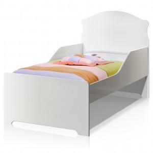 Cama Infantil Branco Clássica com Colchão