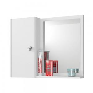 Armário para Banheiro com Espelho Maia Branco