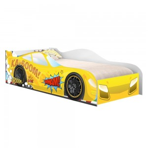 Cama Faísca Carro Solteiro Amarelo