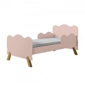 Cama Infantil Nuvem Rosa com Proteção Lateral