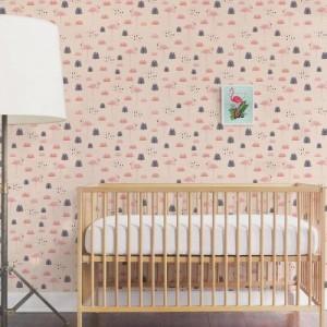 Papel de Parede Infantil Flamingo