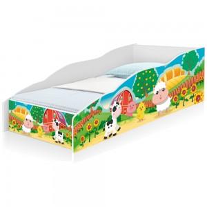Cama Infantil Play Fazendinha Colorida