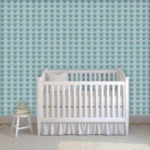 Papel de Parede Infantil Elefante Azul