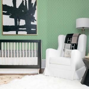 Papel de Parede Infantil Bolinhas Verde Degradê