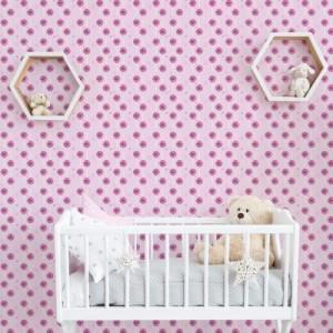 Papel de Parede Infantil Pirulito Rosa